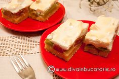 prajitura-cu-rubarba-si-bezea Sandwiches, Deserts, Beer, Fruit, Food, Fruit Cakes, Root Beer, Ale, Essen