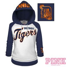 Detroit Tigers Victorias Secret PINK Raglan Pullover Hoodie