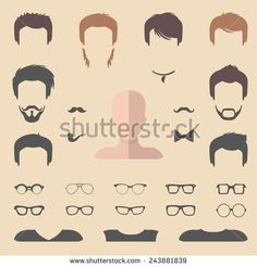 Stock Images similar to ID 267027158 - avatar icons set. flat design...