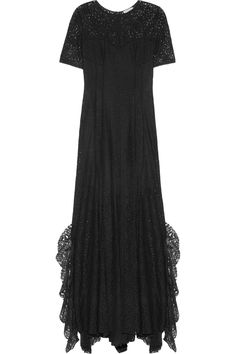 Nina Ricciruffled lace gown
