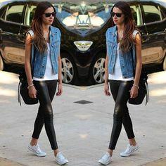 Colete Jeans street style