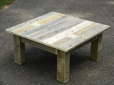 Coffee Table Reclaimed Wood Rustic Chic Table by JNMRusticDesigns, $375.00