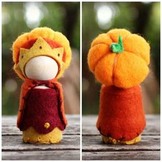 Autumn Pumpkin Patch Queen gnome - Autumn Storytelling and Nature Table