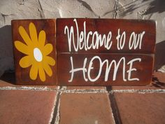 Pallet Wood Wall Hanging Welcome to Our Home by BeckVintage