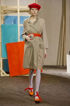 View all the catwalk photos of the Daniela Gregis autumn (fall) / winter 2014 showing at Milan fashion week.  Read the article to see the full gallery.