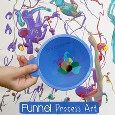 Funnel Painting Process Art For Kids Still Playing School - We Are Dedicated In Planning Activities For Our Kids But Ill Even Admit That We Dont Do Open Ended Process Art Projects As Much As Wed Should This Invitation To Paint With Funnels W Preschool Crafts, Kids Crafts, Process Art Preschool, Preschool Art Projects, Easy Crafts, Painting For Kids, Art For Kids, Painting Art, Art Children