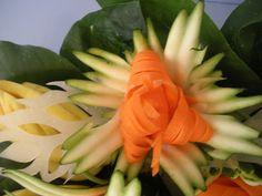 Zucchini Carrot Garnish