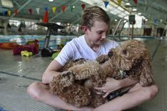 Dakota is one special Labradoodle. Day after day, he hangs out at the pool with the swim team. He is a service dog that is there to keep his owner, Ben Ownby, safe. he  has Type 1 diabetes. That means he must manually inject insulin seven to eight times a day. He can't even use monitors because he is allergic to adhesives..The dog can detect Ben's blood sugar levels and know when he is in danger. When they're high, Dakota tugs on a bracelet and when they are low, Dakota will jump on top of…