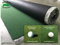TourPutt Ultimate Putting Turf is known as the best putting turf available anywhere - with a 10 year warranty and realistic bent grass look and feel. Putting Green Turf, Home Putting Green, Outdoor Putting Green, Practice Putting Green, Golf Swing Training Aids, Indoor Golf Simulator, Golf Room, Golf Green, Golf Putting