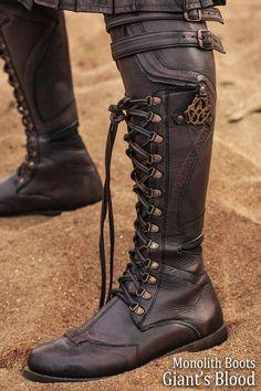 Versatta Marauder Leather Kilt - Verillas Source by fashion boots Leather Kilt, Leather Armor, Leather Boots, Real Leather, Leather Sandals, Moto Boots, Knee Boots, Heeled Boots, Armor Boots