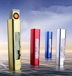Women Lighter Square USB Lighters Creative New Portable Environmental USB Charging Lighter Electronic Cigarette Lighter Gift-G02