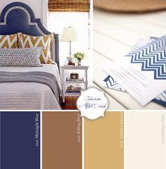 color palete with caramel | Inspire, Create, Celebrate {midnight blue + caramel} | Studio DIY®