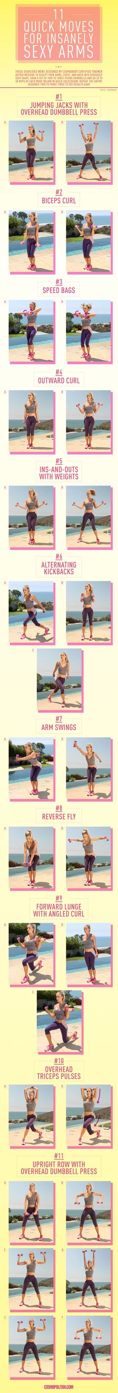 11 Quick Moves for an Insanely Sexy Back and Arms - You won't know what hit you.