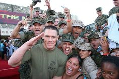 JOHN CENA supporting the troops.