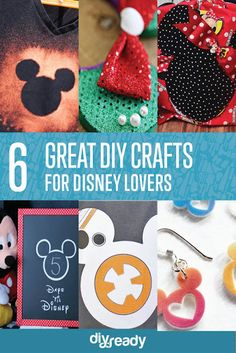If you LOVE Disney, you'll LOVE these Disney DIY crafts you can wear.   #DIY