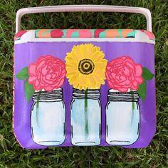 Mason jar cooler.