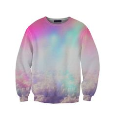 """belovedwear® presents the #NeonClouds Sweatshirt. This """"all over"""" print crewneck…"""