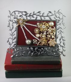 Framed Vintage Jewelry Art, Hitch your wagon to this Star! - pinned by pin4etsy.com