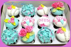Flower cupcake for mother day