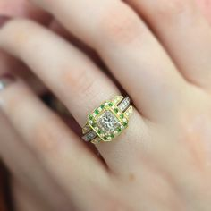 Very Enchanting: We're Engaged!    My ring.