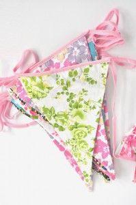 floral party bunting | Emerald + Ella