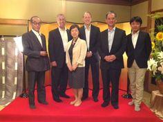 Protiviti's CEO, Joe Tarantino, with the team in Japan celebrating 10 years of operations.