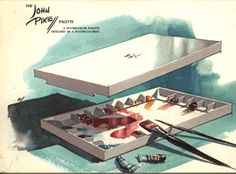 John Pike Palette. The ultimate in water-colour/acrylic palettes. Nice. Snug. Tough. Stain Resistant.