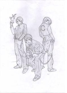 Kyo, Shingo e Iori.