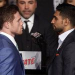 Amir Khan and Canelo Alvarez both weigh in on 155lbs limit | Boxing News | Sky Sports