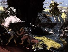 The Never Land  by Paula Rego  1992    Etching and aquatint, 29.5 x 44.5 cm.