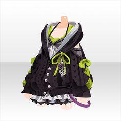 隠神夜行!|@games -アットゲームズ- Fashion Line, Fashion Art, Fashion Outfits, Fashion Design, Dress Drawing, Drawing Clothes, Anime Outfits, Cool Outfits, Chibi Hair