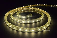 CBConcept UL Listed 30 Feet 3200 Lumen 3000K Warm White Dimmable 110120V AC Flexible Flat LED Strip Rope Light 540 Units 3528 SMD LEDs IndoorOutdoor Use Accessories Included Ready to use -- Visit the image link more details. Note:It is affiliate link to Amazon.