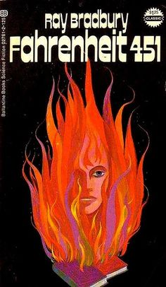 Since Ray Bradbury's novel Fahrenheit 451 has sold more than 10 million copies. While the science-fiction story is set in a dystopic world withou . Sci Fi Books, Cool Books, Film Books, Fahrenheit 451, Best Book Covers, Pulp, Science Fiction Books, Book Jacket, Album Book