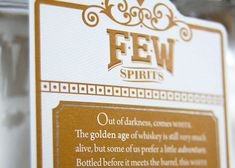 FEW Spirits is a craft distillery, located in Evanston, Illinois just north of Chicago. They offer premium small-batch spirits made entirely on-premises from grain to bottle.