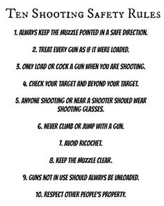 Ten Shooting Safety Rules