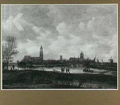 Jan Josefz. van Goyen, Gezicht op Delft vanuit het noorden, 1654