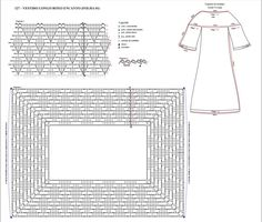 Material: Charming Slim 6 November 6313 in color (purple); Ag to crochet circle Fabric for the lining; Scissors used poi. This Pin was discovered by Syl Crochet Stitches Chart, Crochet Yoke, Mode Crochet, Crochet Collar, Crochet Diagram, Crochet Blouse, Filet Crochet, Crochet Patterns, Crochet Carpet