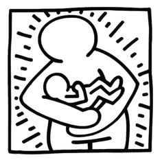 Risultati immagini per plantillas para colorear cuadros keith haring Keith Allen, Keith Haring Art, Pop Art Artists, Single Line Drawing, Graffiti Wall Art, Ecole Art, Cool Coloring Pages, Holding Baby, Art Journal Pages