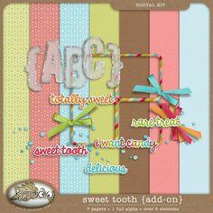 Sweet Tooth - Add-on {FREE Gift} by K Studio $0.00 #kstudio #scrapbooking #digitalscrapbooking