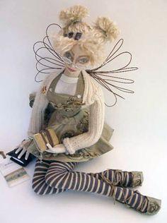 "OOAK Cloth Art Doll ""Willow"" by Abi Monroe"