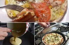 Ingredientes PARA A MASSA 2 e 1/2 xícaras de farinha de trigo 1 colher de sopa de manteiga 1 colher de chá rasa de sal 1 copo americano de leite morno PARA O RECHEIO 1 embalagem de molho de pizza pronto 200g de mussarela 1 tomate fatiado Orégano...