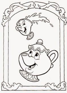 Printable Coloring Pictures Of Beauty And The Beast. Beauty and the Beast coloring pages  Coloring for kids disney printable color 3851 Disney