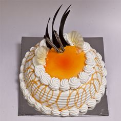 Enjoy a fun twist on a classic recipe with this delicious #Orange Punch #cake.  Place order @ www.cakepark.net. Contact: +91-44-4553 5532 #cakeschennai