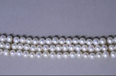 3-STRAND-PEARL-COLLAR-CHOKER-NECKLACE-14K-YELLOW-GOLD-SPACERS-FILIGREE-CLASP