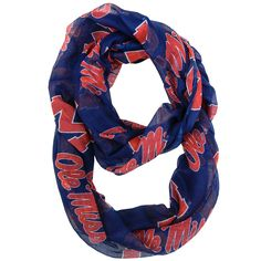 Mississippi Rebels Infinity Scarf
