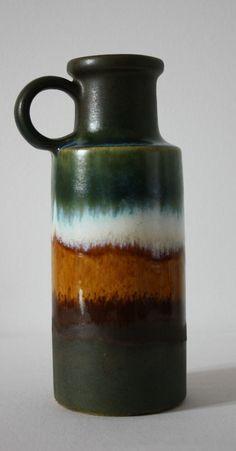 Scheurich Keramik Vase 70er Fat Lava West-Germany 401-20