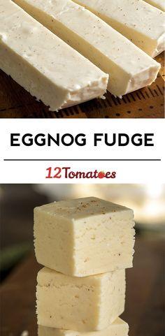 Creamy Eggnog Fudge