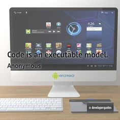 Code is an executable model. (Anonymous) #quotes #developer #developing #software #developerquotes #softwarequotes #technology #fb #coder #coders #programmer #programming #tech #programmer #programmerslife #programminglife #coding #codinglife #webdevelopment #webdeveloper #development #nerd #geek #opensource #computer