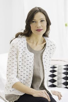 Novita lace patterns, jacket made with Novita Wool yarn #novitaknits https://www.novitaknits.com/en