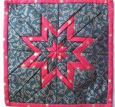 Vicki's Fabric Creations: Folded Star Mat-Tutorial Uploaded.